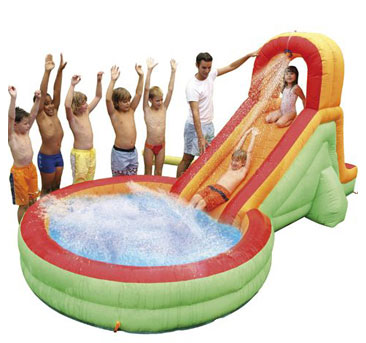 Grote badjes kleine badjes waterpret for Klein opblaasbaar zwembad