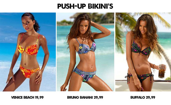 Push-up bikini's onder de 30 euro