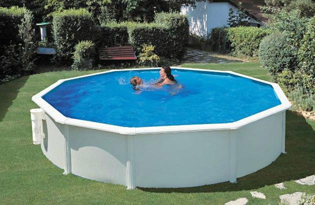 Zwembad 150 diep halve parasol for Groot opzetzwembad