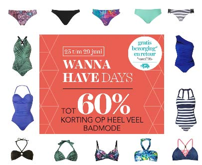 wannahave days tot 60 procent korting op badmode