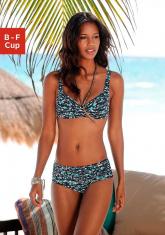 Beugel bikinitop met vrolijk multicolour dessin